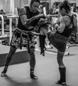 students in Muay Thai Kickboxing in Boulder - Tran's Martial Arts And Fitness Center