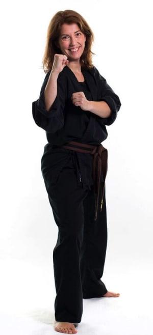 students in adult karate in Colwyn Bay - John Lynn's Black Belt Academy