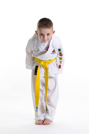 students in kids karate in Colwyn Bay - John Lynn's Black Belt Academy