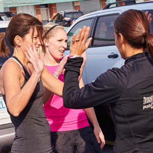 students in group training  in Burlington - push!FITstudio