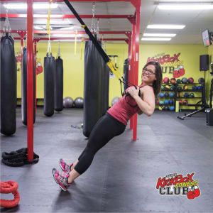 students in trx training in Windsor - Kersey Kickbox Fitness Club