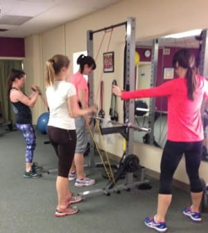 students in semi private training in Rutland - Body Essentials Personal Training & Wellness