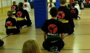 students in kids karate  in Rhyl - John Lynns BBA
