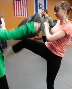 students in fitness kickboxing  in  Williamsville - The Training Edge