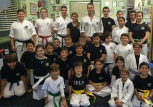 students in kids martial arts  in Marrickville - Zeus International Martial Arts Academy