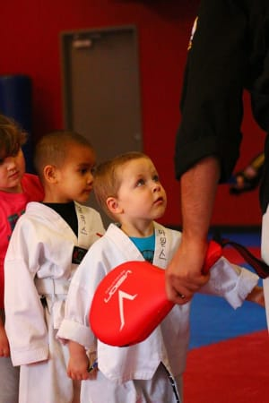 students in Tiny Tigers  in Gresham - World Champion Taekwondo Gresham