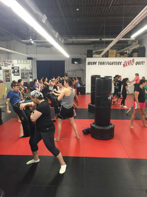 students in kickboxing in CAMBRIDGE - American Martial Arts Center