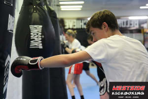 students in kids kickboxing  in O'Connor - Westside Kickboxing
