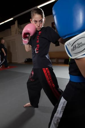 students in kids kickboxing in Howell - Sovereign Martial Arts