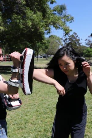 students in cardio kickboxing in Hillsboro - Urban Roots Self Defense