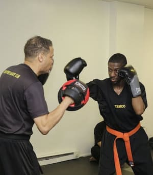students in fitness kickboxing  in Drexel Hill - TAMCO Martial Arts