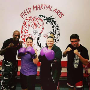 students in fitness kickboxing  in Norwood - Field Martial Arts Academy