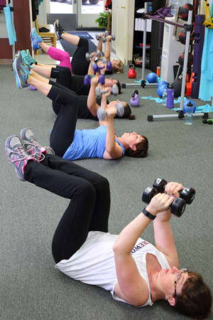 students in semi private training in Rutland - Body Essentials Personal Training & Wellness