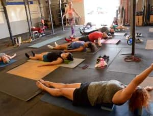students in yoga  in Brandon - CrossFit BNI