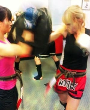 students in kickboxing fitness  in Boulder - Tran's Martial Arts And Fitness Center