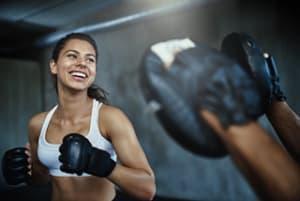 students in fitness kickboxing  in Manhattan - Evolution Training Center