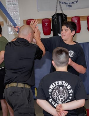students in kids martial arts in - Smithtown Krav Maga
