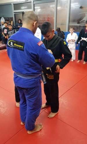 students in kids martial arts  in Santa Ana - Rounders MMA