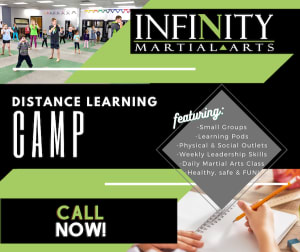 students in Distanced Learning Camp  in Waunakee - Infinity Martial Arts