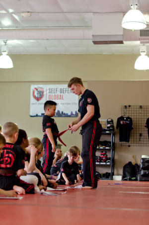 students in kids martial arts in Kansas City - Self Defense Global