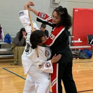 students in cane jitsu in Keller - American Defensive Arts Academy