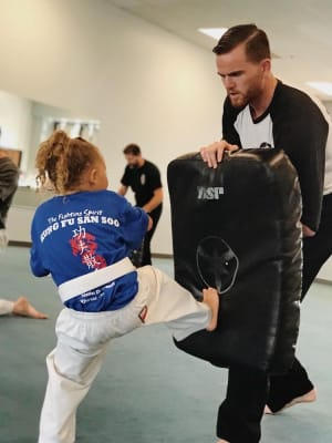 students in kids martial arts in Riverside - Dave Hopkins Kung Fu San Soo