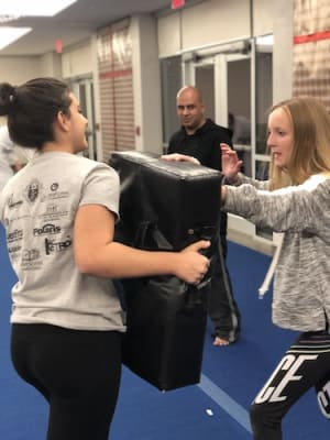 students in womens self defense  in Keller - American Defensive Arts Academy