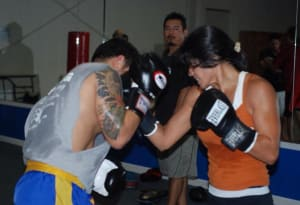 students in muay thai and boxing  in 	 Austin - Vasquez Academy