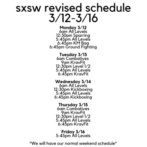 Revised SXSW Schedule
