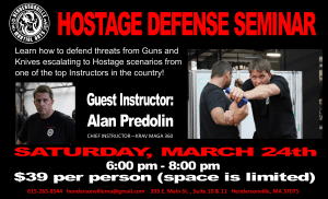 in Hendersonville - Hendersonville Martial Arts - HMA is pleased to be hosting Alan Predolin for a Hostage Defense Seminar on March 24th!