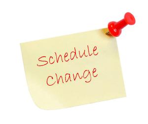 SBG Buford September Schedule Change