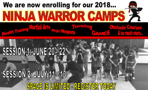 in Hendersonville - Hendersonville Martial Arts - We are now enrolling for our 2018 Ninja Warrior Summer Camps!