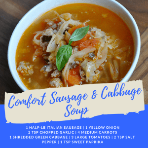 Personal Training  in Campbell - 5:17 Total Body Transformations - Recipe of the Week: Comfort Sausage & Cabbage Soup