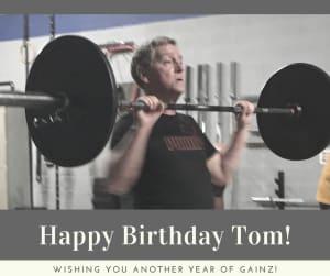 Personal Training in Brampton - Impact Fitness - Happy Birthday Tom!