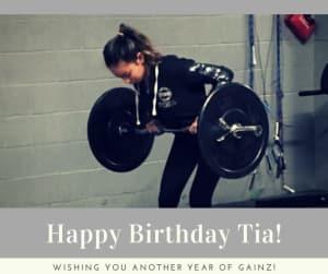 Personal Training in Brampton - Impact Fitness - Happy Birthday Tia!