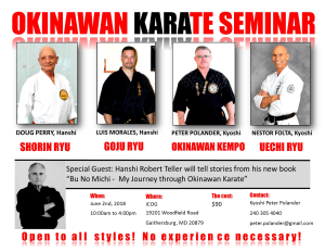 in Bethesda - Polander Academy Of Martial Arts - Okinawan Martial Arts Seminar