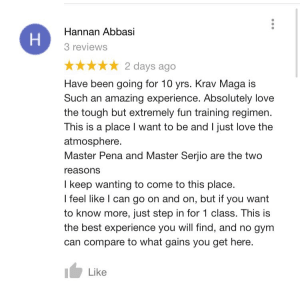 We strive for 5 stars!