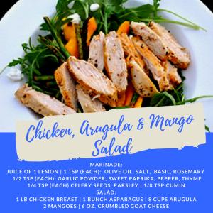 Recipe of the Week: Chicken, Arugula, and Mango Salad