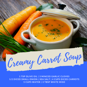 Recipe of the Week: Creamy Carrot Soup