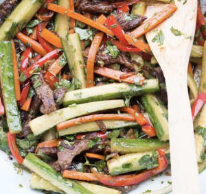 Recipe Of The Week: Beef and Veggie Salad