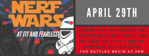in Austin - Fit & Fearless - April 29th! Nerf Wars :)