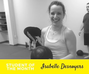 "Student of the Month - ""Super Mom"" Isabelle!"