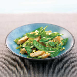 Ginger Chicken with Snow Pea Salad