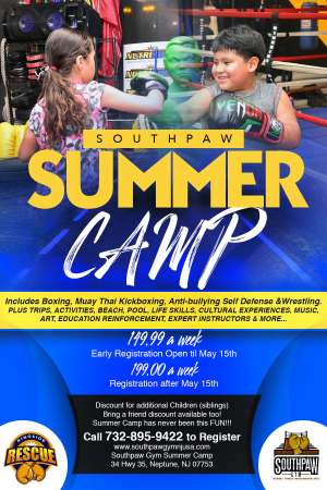 in Monmouth County  - Southpaw Gym - Summer Camp