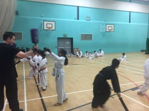 in Leicester - MG Black Belt Academy - Students preparing for karate camp kids karate Leicester