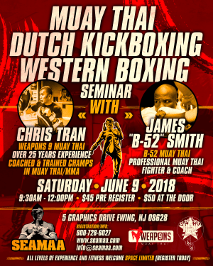 in Ewing - Southeast Asian Martial Arts Academy (SEAMAA) - Muay Thai - Dutch Kickboxing - Western Boxing SEMINAR