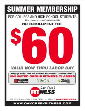 Personal Training in Oak Creek - Oak Creek Fitness - Student Summer Membership