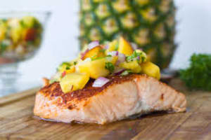 Recipe Of The Week: Pan-Grilled Salmon with Pineapple Salsa