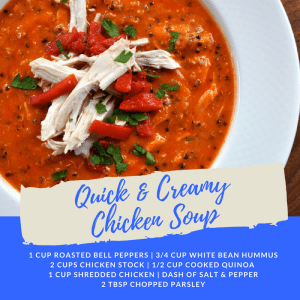 Recipe of the Week: Quick & Creamy Chicken Soup
