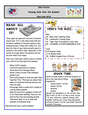 May/June Kidz Korner Newsletter